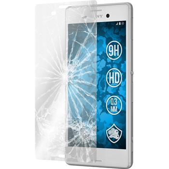 2 x Sony Xperia M4 Aqua Protection Film Tempered Glass Clear