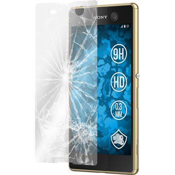 2 x Sony Xperia M5 Glas-Displayschutzfolie klar