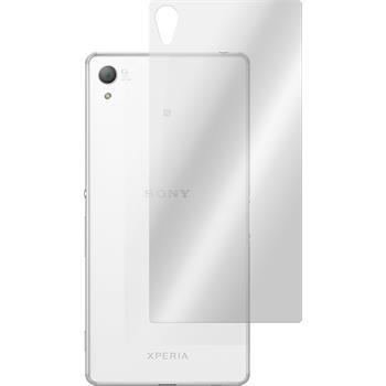 2x Xperia Z3+ / Plus Rückseite klar Glasfolie