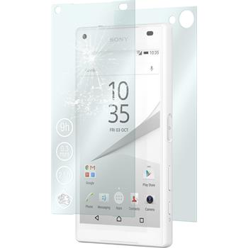 2 x Sony Xperia Z5 Compact Protection Film Tempered Glass Fullbody clear