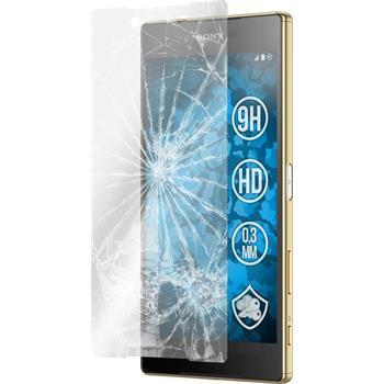 2x Xperia Z5 Premium klar Glasfolie
