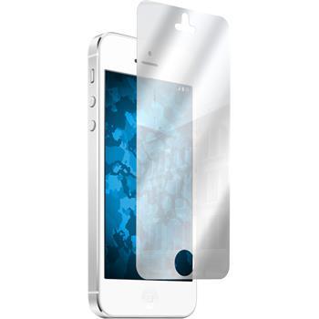 4 x iPhone 5 / 5s / SE Schutzfolie verspiegelt