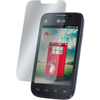 4 x LG L40 Dual Displayschutzfolie matt