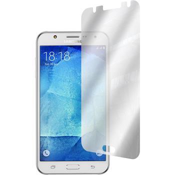 4 x Samsung Galaxy J7 Displayschutzfolie verspiegelt