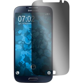 4 x Samsung Galaxy S4 Displayschutzfolie Privacy
