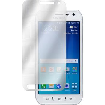4 x Galaxy S6 Active Schutzfolie verspiegelt
