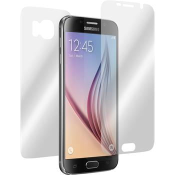 4 x Samsung Galaxy S6 Displayschutzfolie klar Fullbody