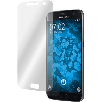 4 x Galaxy S7 Schutzfolie klar curved