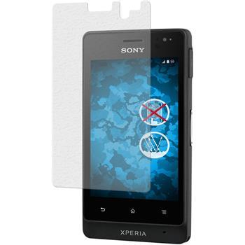 4 x Sony Xperia go Protection Film Anti-Glare