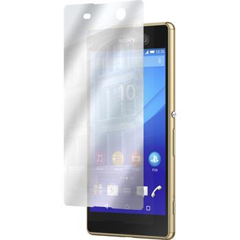 6 x Sony Xperia M5 Displayschutzfolie verspiegelt