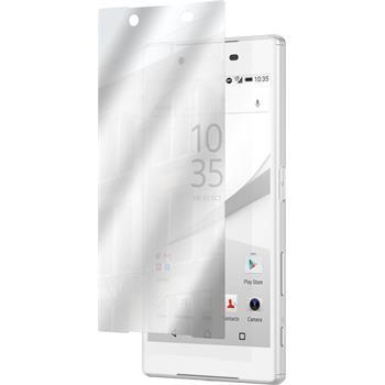 6 x Sony Xperia Z5 Displayschutzfolie verspiegelt