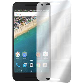 8 x Google Nexus 5X Displayschutzfolie verspiegelt