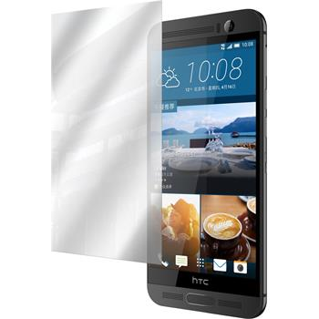 8 x HTC One M9 Plus Displayschutzfolie verspiegelt