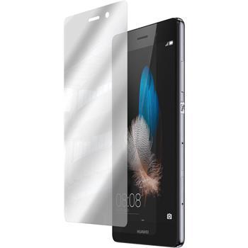 8 x Huawei P8 Lite Displayschutzfolie verspiegelt