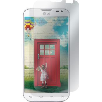 8 x LG L70 Dual Displayschutzfolie matt