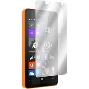 8 x Lumia 430 Dual Schutzfolie verspiegelt