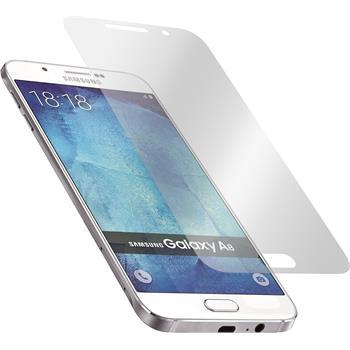 8 x Galaxy A8 Schutzfolie matt