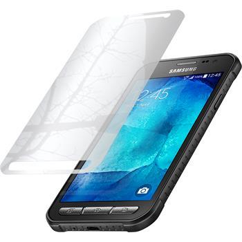 8 x Galaxy Xcover 3 Schutzfolie verspiegelt
