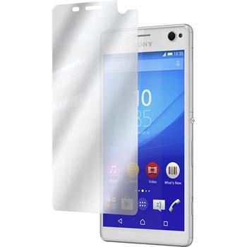 8 x Sony Xperia C4 / Dual Displayschutzfolie verspiegelt