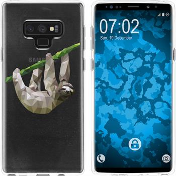 Samsung Galaxy Note 9 Silikon-Hülle Vektor Tiere  M6