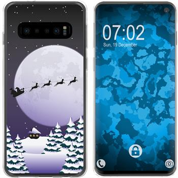 Samsung Galaxy S10 Silikon-Hülle X Mas Weihnachten  M5