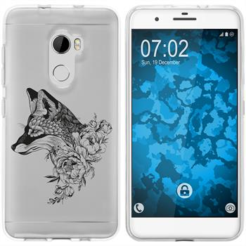 HTC One X10 Silicone Case floralFox M1-1