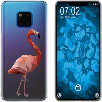Huawei Mate 20 Pro Silicone Case vector animals M2