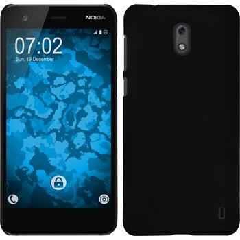 Hardcase Nokia 2 gummiert schwarz Case