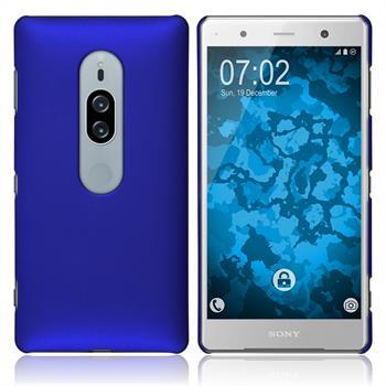 Hardcase Xperia XZ2 Premium gummiert blau Case