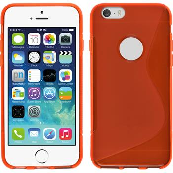 Silicone Case for Apple iPhone 5c S-Style logo red