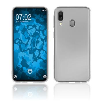 Silicone Case Galaxy A40 transparent Crystal Clear + protective foils