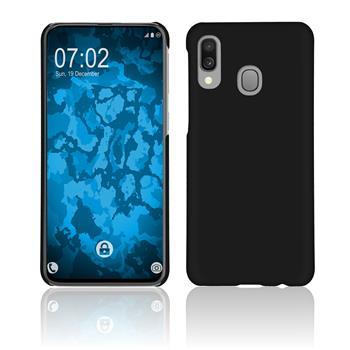Hardcase Galaxy A40 rubberized black + protective foils