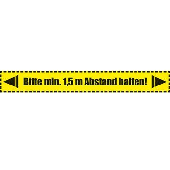 Fußboden Warnaufkleber - 64x8 cm