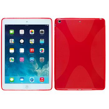 Silicone Case for Apple iPad Air X-Style red