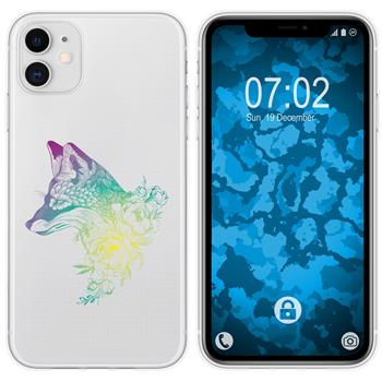 Apple iPhone 11 Silicone Case floral Fox M1-4