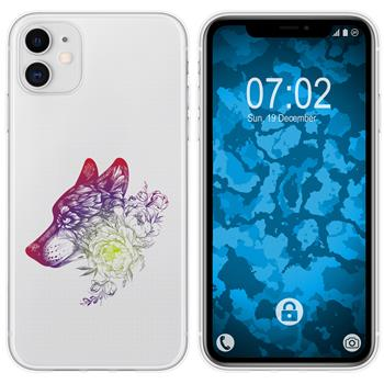 Apple iPhone 11 Silicone Case floral M3-5