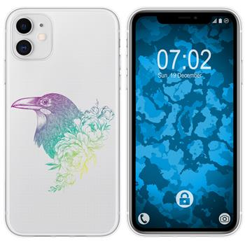 Apple iPhone 11 Silicone Case floral M4-4