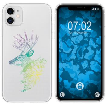 Apple iPhone 11 Silicone Case floral M7-4