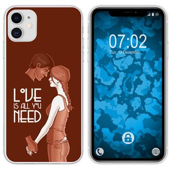 Apple iPhone 11 Silicone Case in Love M3