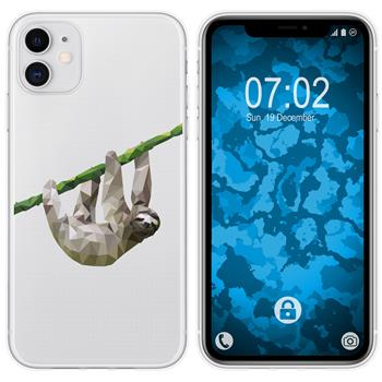 Apple iPhone 11 Silicone Case vector animals sloth M6