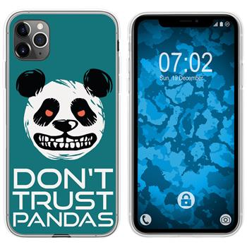 Apple iPhone 11 Pro Max Silicone Case Crazy Animals Panda M2