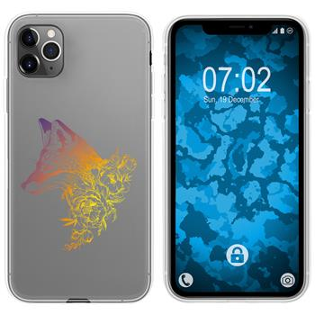 Apple iPhone 11 Pro Silicone Case floral Fox M1-3