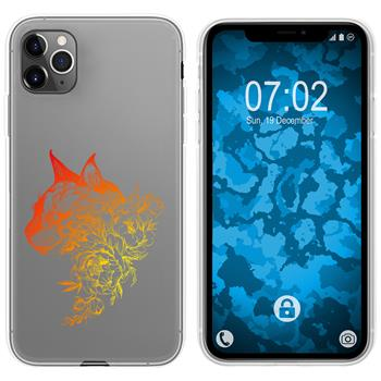 Apple iPhone 11 Pro Max Silicone Case floral M2-2