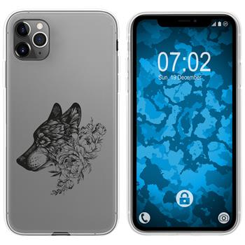 Apple iPhone 11 Pro Max Silicone Case floral M3-1
