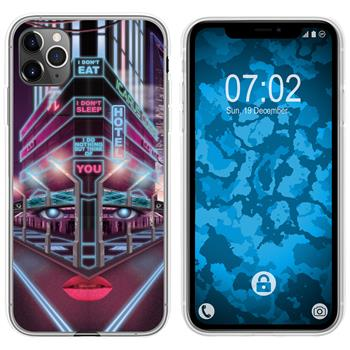Apple iPhone 11 Pro Silicone Case Retro Wave M5