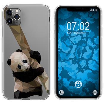 Apple iPhone 11 Pro Silicone Case vector animals Panda M4