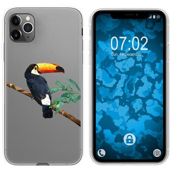 Apple iPhone 11 Pro Max Silicone Case vector animals M5