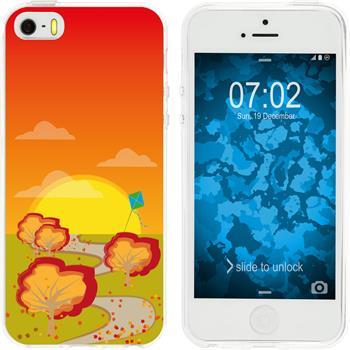 Apple iPhone 5 / 5s / SE Silicone Case autumn M2
