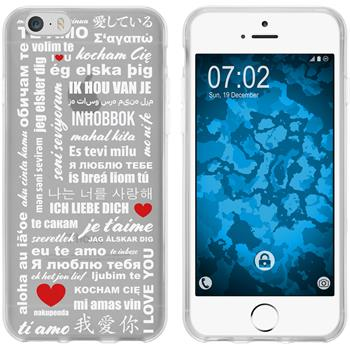 Apple iPhone 6 Plus / 6s Plus Silikon-Hülle in Love  M5