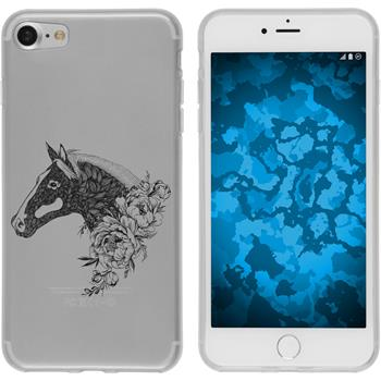 Apple iPhone 8 Silicone Case floral M5-1